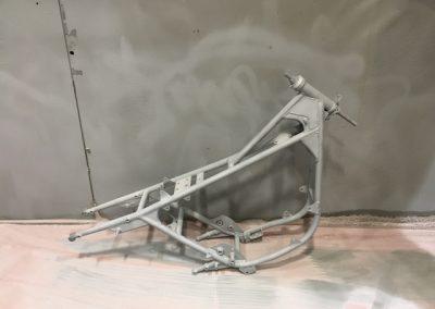 Sandblasted motorbike frame