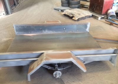 Trailer before sandblasting